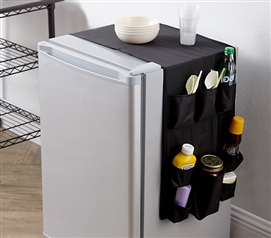 Black Essential Over the Dorm Fridge Storage Organizer One-of-a-Kind College Double Cookin Caddy