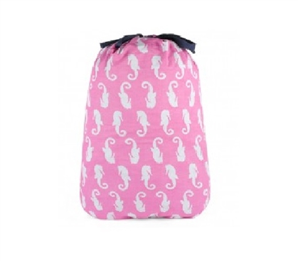 Great Dorm Decor Item - Monteray Pink - College Laundry Bag - Pink Laundry Bag