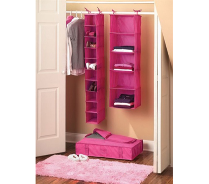 College Closet Set - Pink Dorm room organization