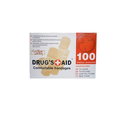 Great For Little Injuries - Personal First Aid Bandage Kit (100 Pieces) - Keep Safe In College