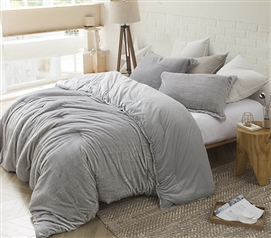 Coma Inducer Twin XL Comforter - Arctic Fox - Tundra Gray