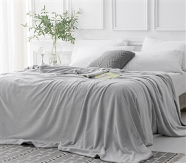Coma Inducer Frosted - Twin XL Bedding Blanket - Granite Gray