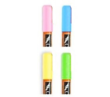 Easy To Draw - Chalk Ink - Jumbo Fluorescent Wet Erase Markers - 4 Pack - College Items