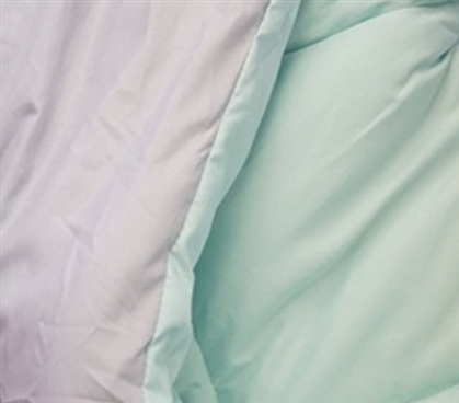 Calm Mint/Glacier Gray Reversible College Comforter Twin Extra Long Dorm Bedding
