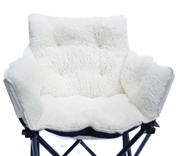 College Cushion Chair Ultra Plush Polar Bear White