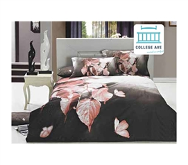Fresco Leaves Twin XL Comforter Set - College Ave Designer Series Dorm Decoration Comforter