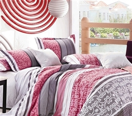 Improve Dorm Decor - ValenciaTwin XL Comforter Set - College Ave Designer Series - Designer Dorm Bedding