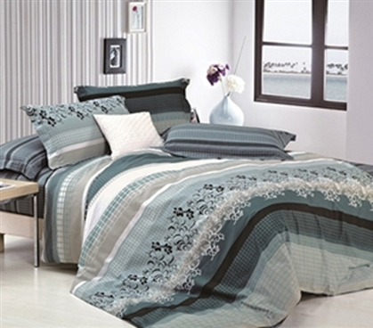 Color And Comfort - Belle Twin XL Comforter Set - College Ave Designer Series - Great Design