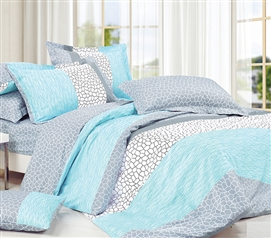 Dove Aqua Twin XL Comforter Set - College Ave Designer Series - Dorm Comforter For College