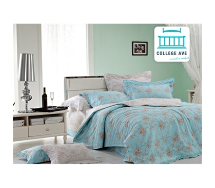 Quality Cotton - Sky Garland Twin XL Comforter Set - College Ave Designer Series - Great Design