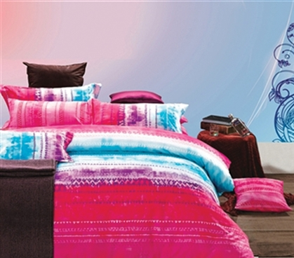 Lively Color - Fuchsia Blend Twin XL Dorm Bedding - College Ave Designer Series - Dorm Bedding For College Girls