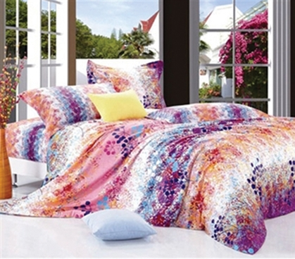 Adds To Dorm Decor - Sunburst Splash Twin XL Comforter Set - College Ave Designer Series - Great Colors For Girls