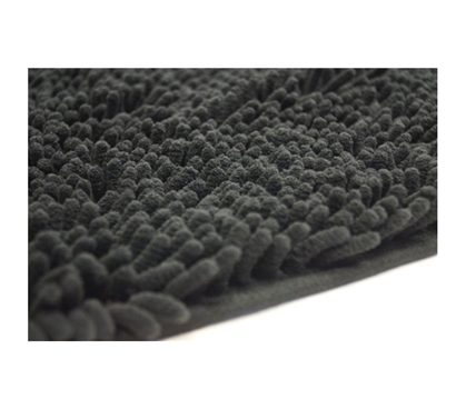 Dorm Room Rugs - Chenille Area Rug - Black