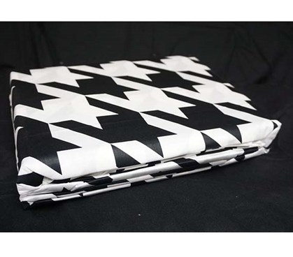 Houndstooth Black and White Twin XL Sheet Set Dorm Bedding Twin XL