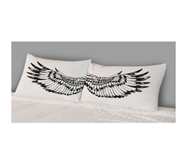 Dorm Bedding Essentials - College Pillowcases - Wings (Set of 2)
