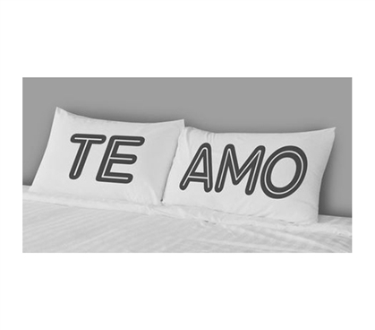 Cute College Bedding - College Pillowcases - Te Amo (Set of 2)