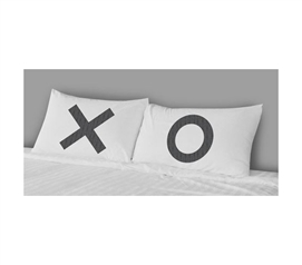 Unique Dorm Bedding - College Pillowcases - XO (Set of 2)