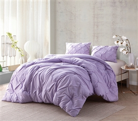 Orchid Petal Pin Tuck Twin XL Comforter Dorm Bedding Extra Long Twin Comforter