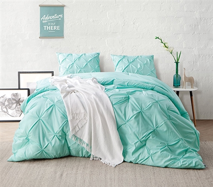 Yucca Pin Tuck Twin XL Comforter Twin XL Bedding Dorm Room Decorations Dorm Essentials