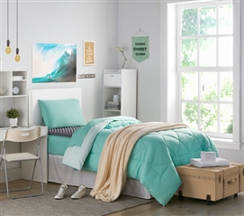Hint of Mint/Yucca Reversible Twin XL Comforter Extra Long Twin Comforter Twin XL Bedding