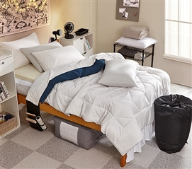 Jet Stream/Nightfall Navy Reversible Twin XL Comforter