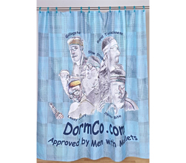 Fun Dorm Item - Custom Made Shower Curtain  - Your Image - College Accessories