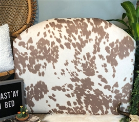 Beige Twin XL Bedding Item Neutral College Dorm Room Decor Stylish College Headboard Unique Cow Hide Pattern