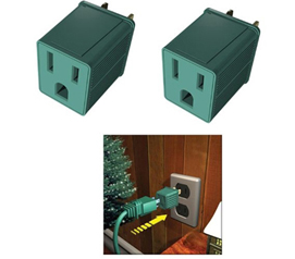 Don't Be Left On Empty - Outlet Converters (3 Prong to 2 Prong) 2-Pack - Charge Your Electronics