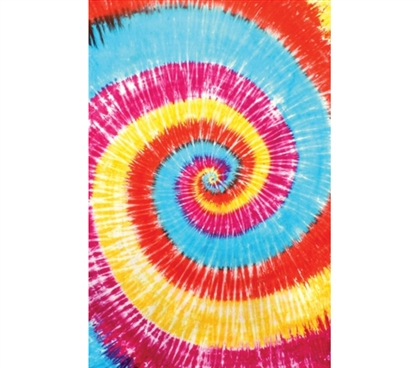 Dorm Decor Essentials - Red Spiral Tie-Dye Tapestry - Make Walls Colorful