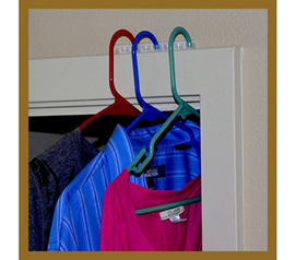 Great For Extra Clothes - Hanger Station - Cheap Door Hanger Holder - Useful Dorm Item