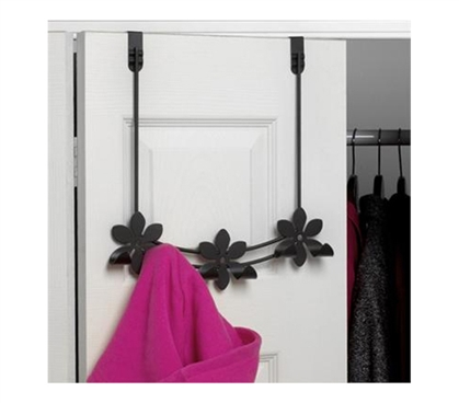 Hang Your Dorm Stuff! - Flower 3 Hook - Over The Door Storage Decor - Looks Cool!