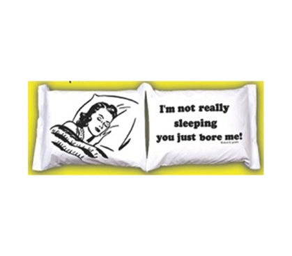 College Pillowcases - You Bore Me! Funny College Bedding Accessories