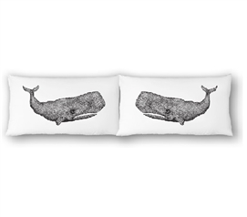 College Pillowcases - Whales (Set of 2) Cool Dorm Room Ideas