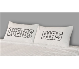 College Pillowcases - Buenos Dias (Set of 2) Dorm Bedding