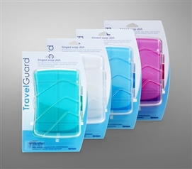 Keep Soap In A Container - Microban Hinged Soap Dish (Available in 4 Colors) - Cool Dorm Bathroom Supply