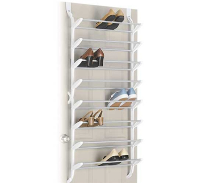 24 Pair Shoe Rack (non-slip) - Over the Door shoe organizer