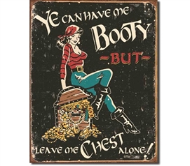 Tin Sign Dorm Room Decor cute and sassy dorm room or college apartment decorative tin sign with pirate theme