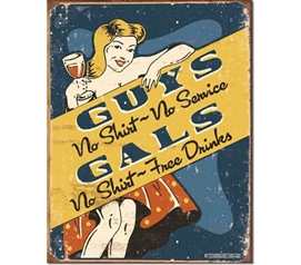 Tin Sign Dorm Room Decor college party humor illustration print on vintage tin sign for wall decoration