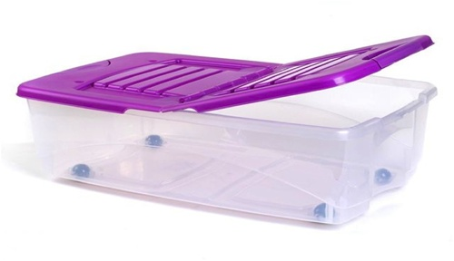 under bed storage boxes with wheeled 2