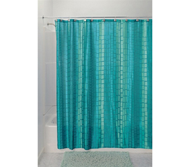 Decorate Your Dorm - Moxi Shower Curtain Aquamarine - Pretty Shower Curtain