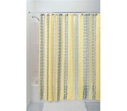 Cool Dorm Decoration - Moxi Shower Curtain Yellow - Looks Great For College Decor