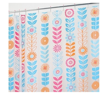 Start With A Fresh Curtain - Garland Shower Curtain Set - Pretty Shower Curtain
