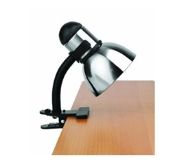 Black N Steel College Clip Light - Long Neck Desk Accessory