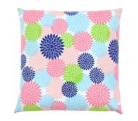 Floral Pop Multi-Color Dorm Throw Pillow Cover