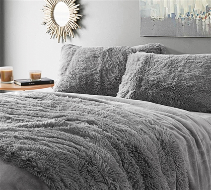 Are You Kidding Twin XL Sheets - Tundra Gray