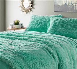 Are You Kidding Twin XL Sheets - Calm Mint