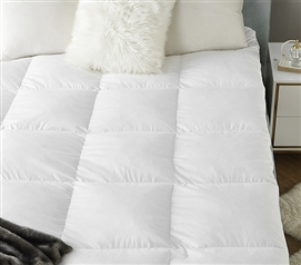 Bafflebox Full Goose Down Featherbed - Oversized Full XL Bedding