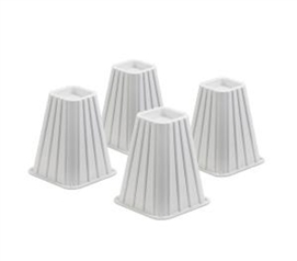 "Added Height Bed Risers (7.5"") - White Products College Shopping"