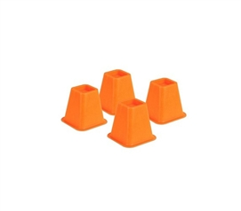 Provides More Storage - Colored Bed Risers - Orange - Adds Space To Dorm Room