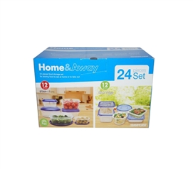 Have A Dorm Pantry - Durable 26PC Food Container Set -Store Leftovers